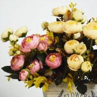тканевые цветы в букетах
