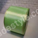 Атласная лента с люрексом. Ширина 5 см