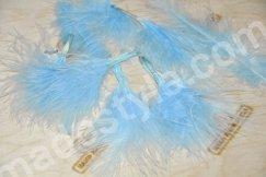Перо пуховое небесно-голубое