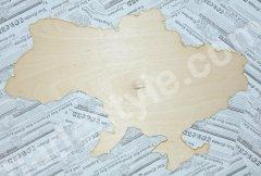 """Заготовка деревянная """"карта Украины""""."""