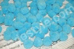 Помпоны голубые