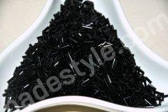 Стеклярус. Цвет черный