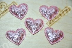 Патч сердце (крупный глиттер) 3,3 см
