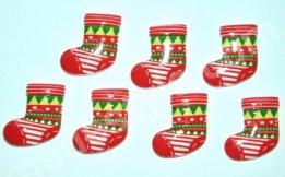 """Серединка """"Новогодний носочек"""" 2 см * 1,8 см."""